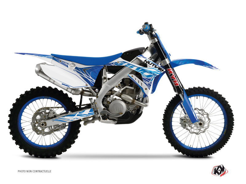 TM MX 300 Dirt Bike Eraser Graphic Kit Blue