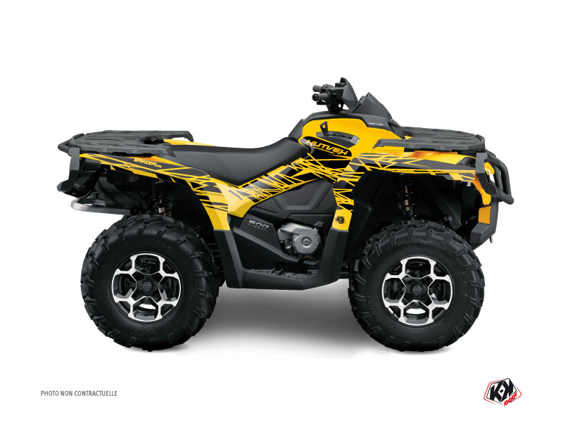 Can Am Outlander 1000 ATV Eraser Graphic Kit Yellow Black