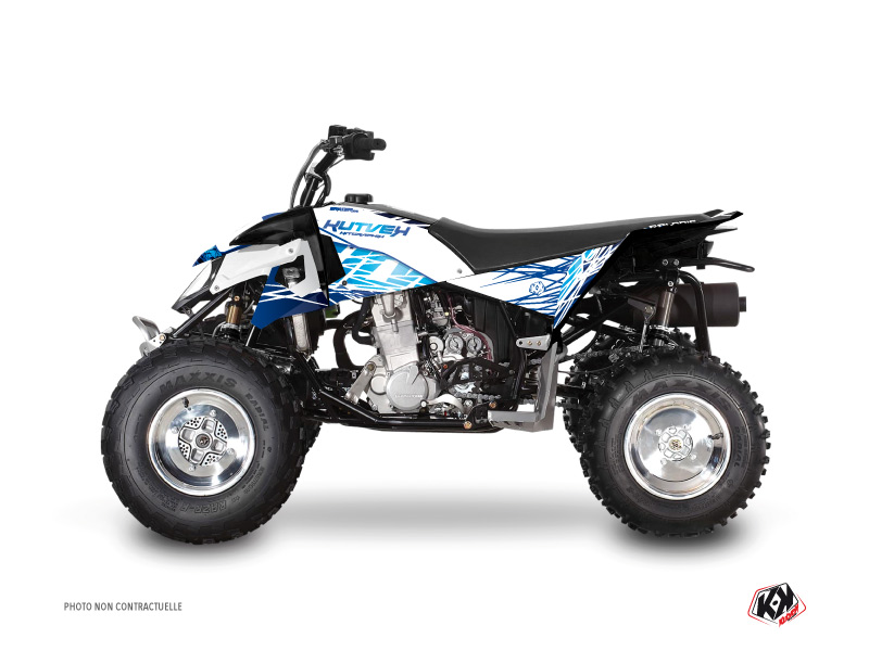 Polaris Outlaw 450 ATV Eraser Graphic Kit Blue
