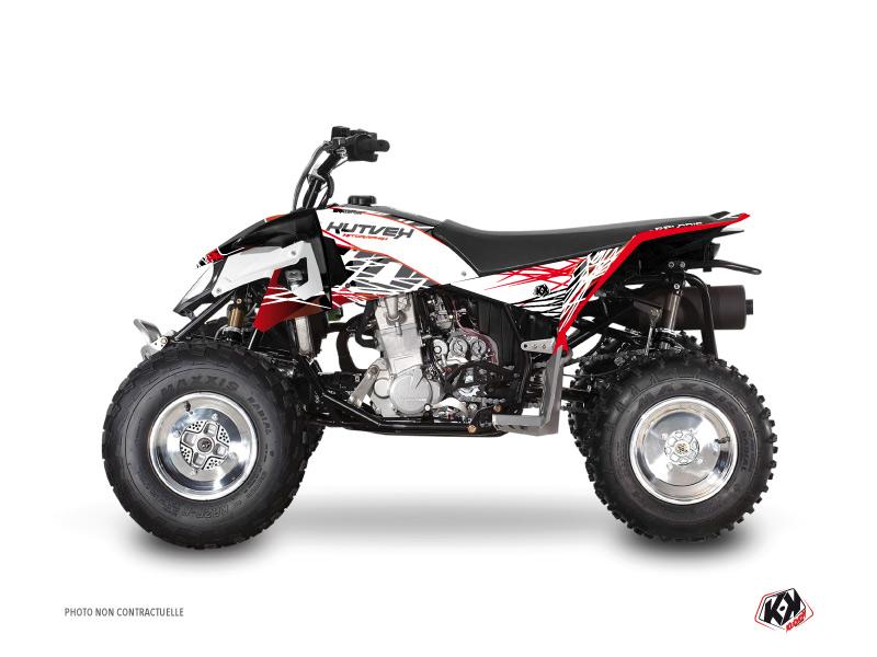 Polaris Outlaw 450 ATV Eraser Graphic Kit Red White