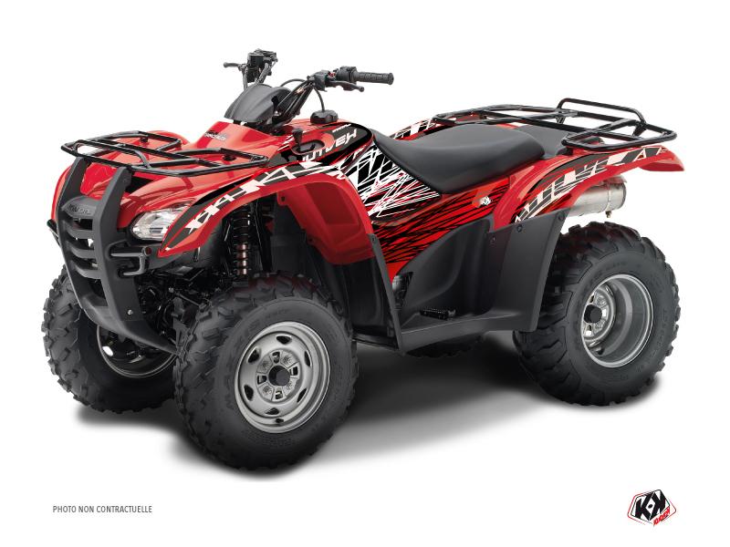 Honda Rancher 420 ATV Eraser Graphic Kit Red White