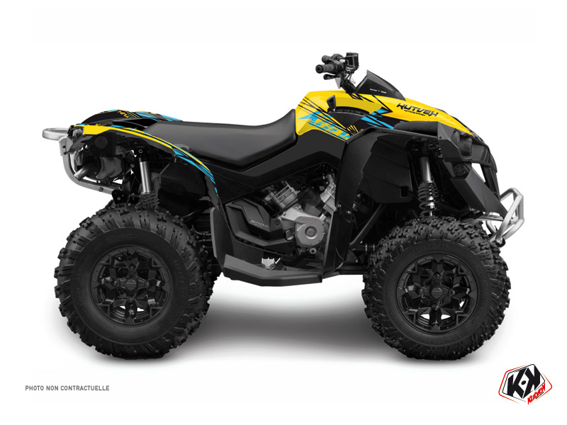 Can Am Renegade ATV Eraser Graphic Kit Yellow Blue