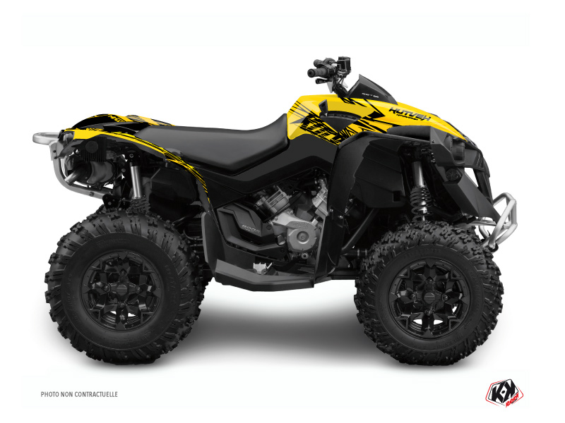 Can Am Renegade ATV Eraser Graphic Kit Yellow