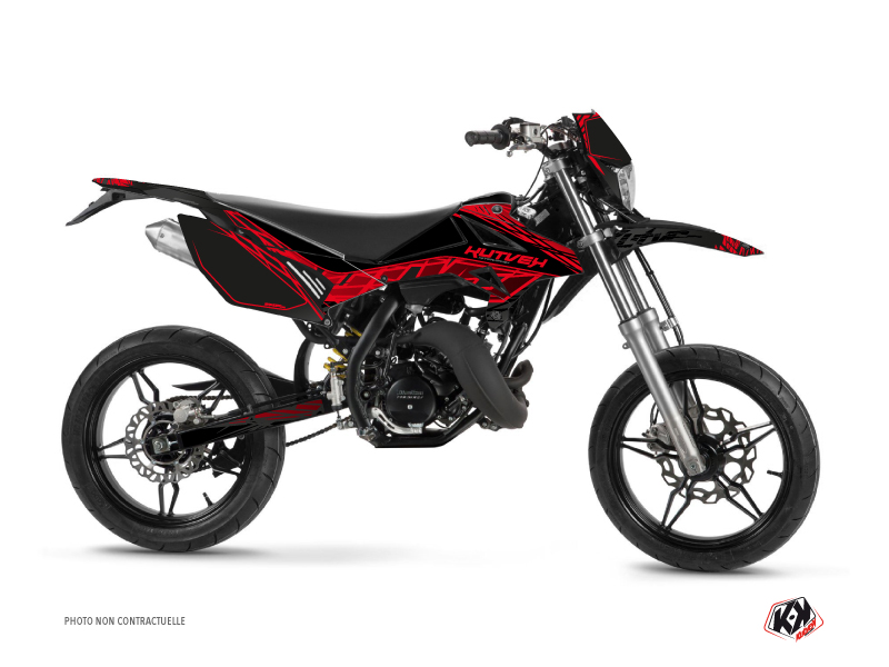 Beta RR 50 Motard 50cc Eraser Graphic Kit Black Red