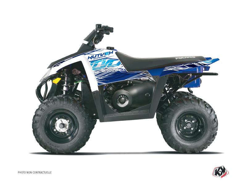 Polaris Scrambler 500 ATV Eraser Graphic Kit Blue