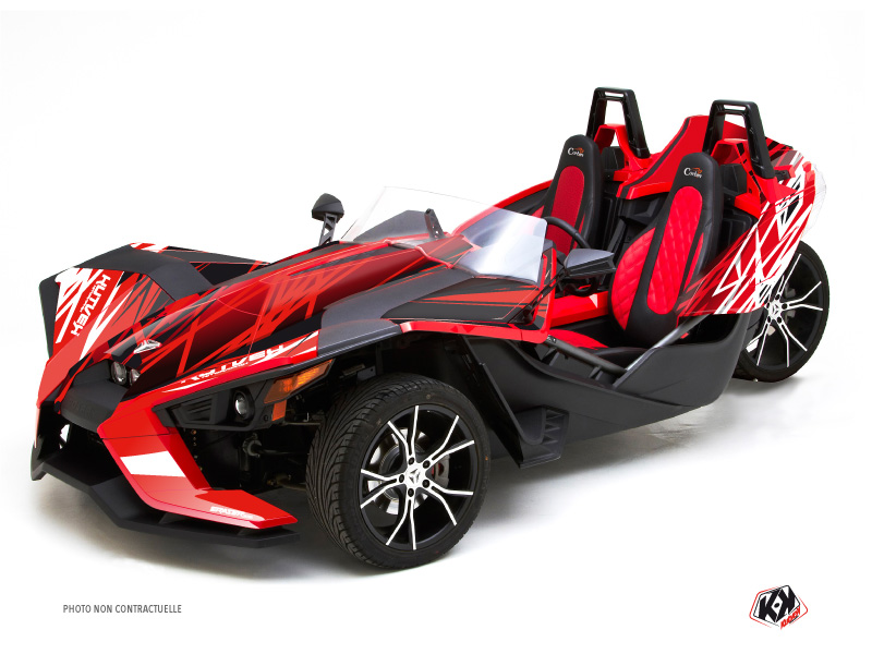 Polaris Slingshot Roadster Eraser Graphic Kit Red White