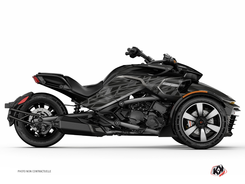 Kit Déco Hybride Eraser Can Am Spyder F3 Limited Noir Gris