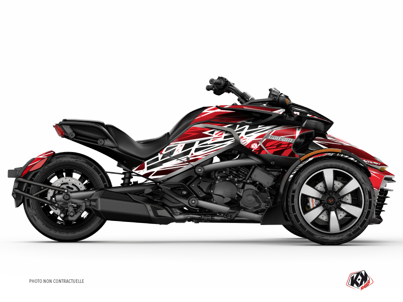 Can Am Spyder F3T Roadster Eraser Graphic Kit Red White