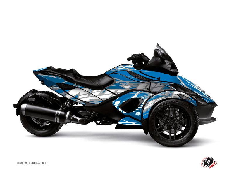 Can Am Spyder RS Roadster Eraser Graphic Kit Grey Blue