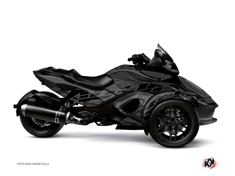 Can Am Spyder RS Roadster Eraser Graphic Kit Black Grey