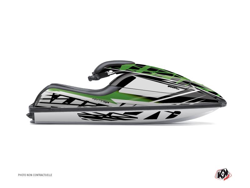 Kit Déco Jet-Ski Eraser Kawasaki SXR 800 Vert Noir