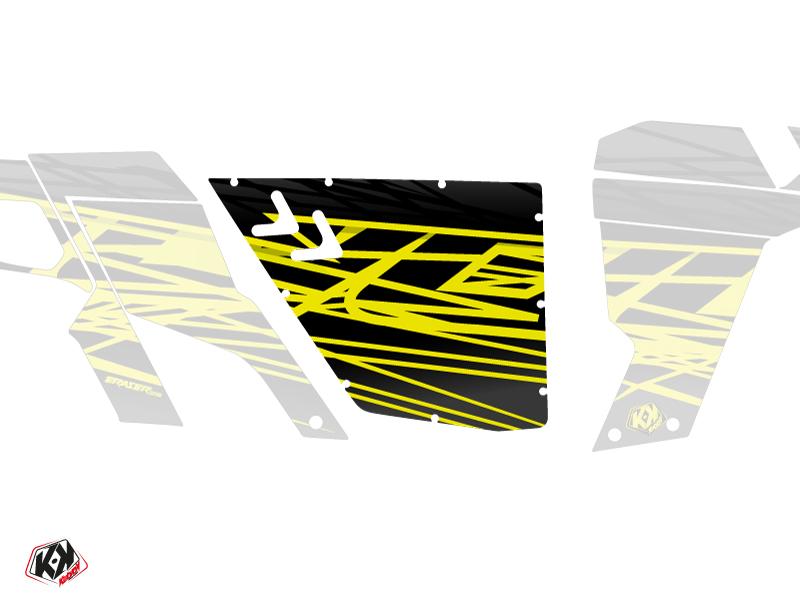 Kit Déco Portes Standard XRW Eraser Can Am Commander 2011-2017 Neon Gris