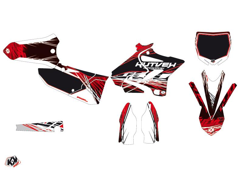Yamaha 125 YZ Dirt Bike Eraser Graphic Kit Red White