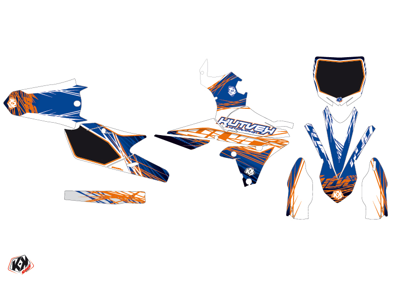Yamaha 250 YZF Dirt Bike Eraser Graphic Kit Blue Orange