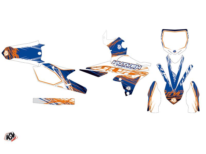 Yamaha 450 YZF Dirt Bike Eraser Graphic Kit Blue Orange