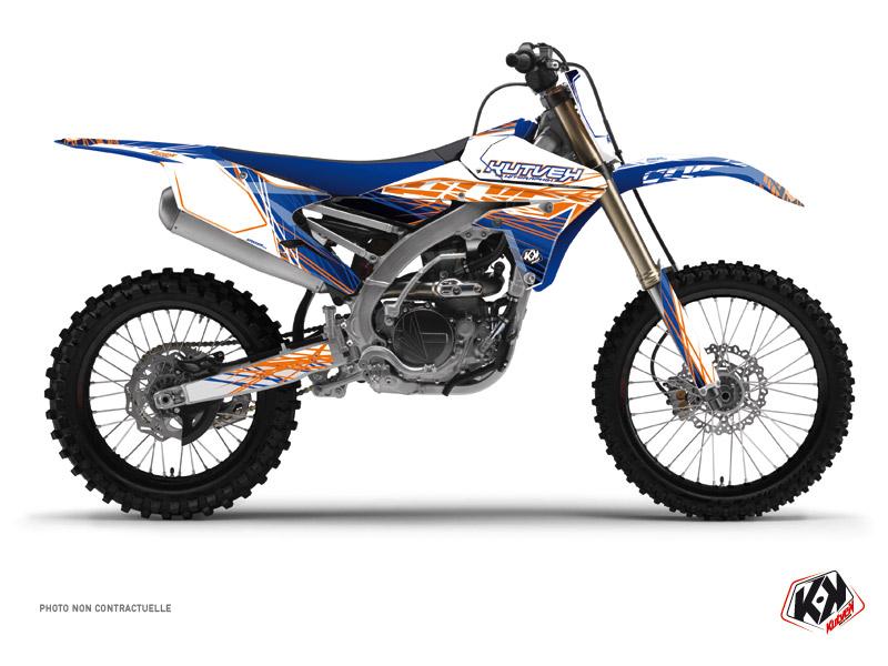 Kit Déco Moto Cross Eraser Yamaha 450 YZF Bleu Orange