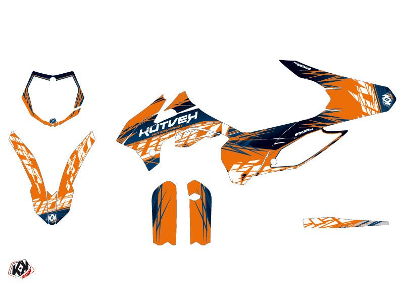 KTM 85 SX Dirt Bike Eraser Graphic Kit Blue Orange