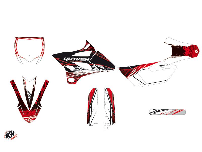 Yamaha 85 YZ Dirt Bike Eraser Graphic Kit Red White