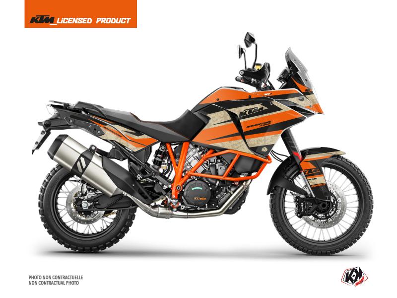 KTM 1090 Adventure R Street Bike Eskap Graphic Kit Orange Sand