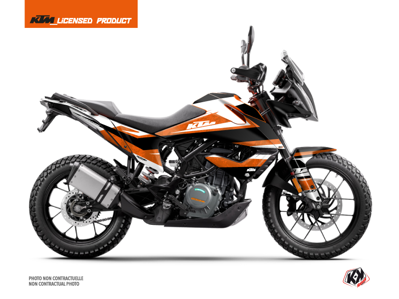 KTM 390 Adventure Street Bike Eskap Graphic Kit Orange White