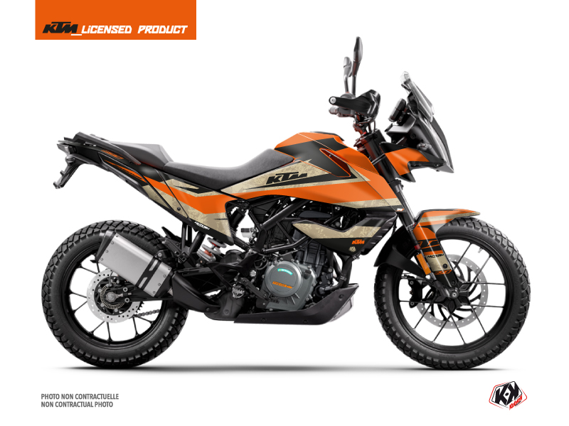 KTM 390 Adventure Street Bike Eskap Graphic Kit Orange Sand