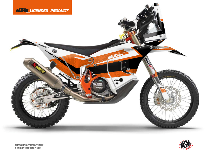KTM 450 Rally Dirtbike Eskap Graphic Kit Orange White