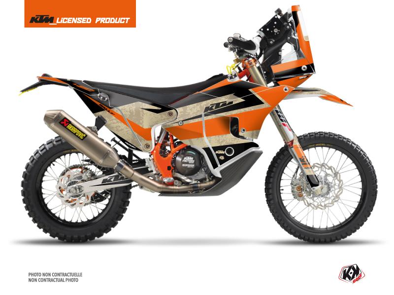 KTM 450 Rally Dirtbike Eskap Graphic Kit Orange Sand