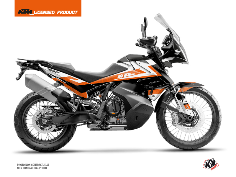 KTM 790 Adventure Street Bike Eskap Graphic Kit Orange White