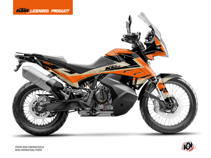 KTM 790 Adventure Street Bike Eskap Graphic Kit Orange Sand