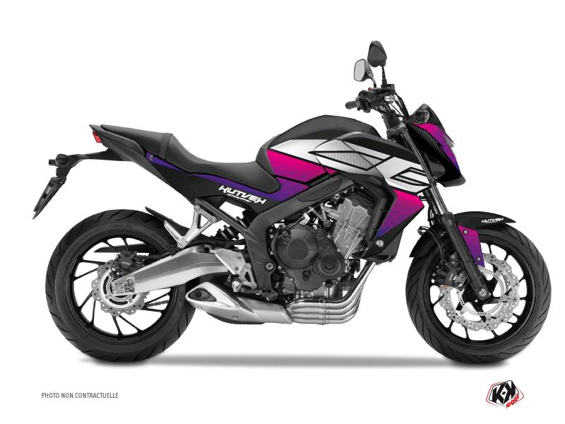 Honda CB 650 F Street Bike Essential Graphic Kit Pink Black