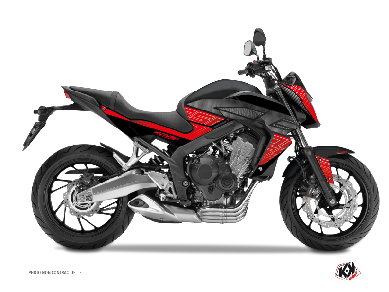 Honda CB 650 F Street Bike Essential Graphic Kit Red Black