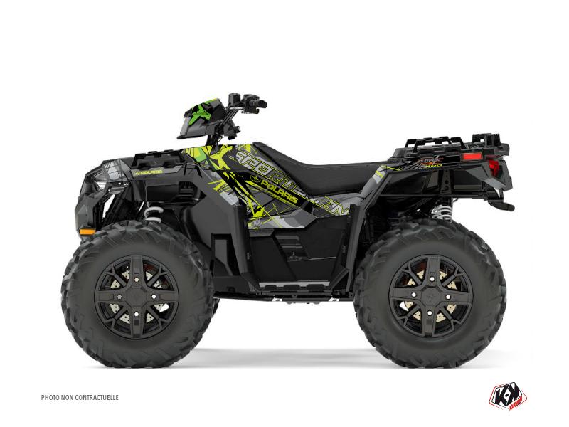 Polaris 1000 Sportsman XP Forest ATV Evil Graphic Kit Grey Green