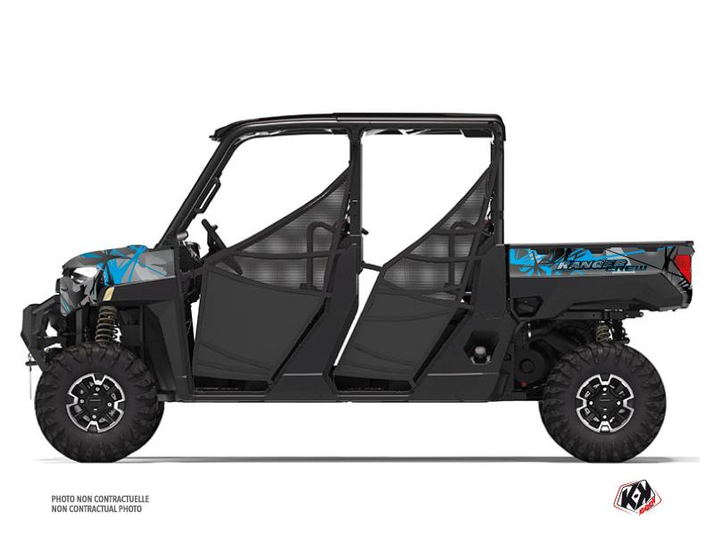 Polaris Ranger Crew UTV Evil Graphic Kit Grey Blue