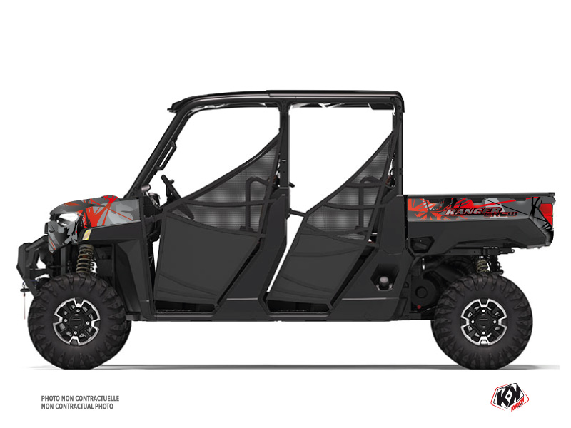 Polaris Ranger Crew UTV Evil Graphic Kit Grey Red