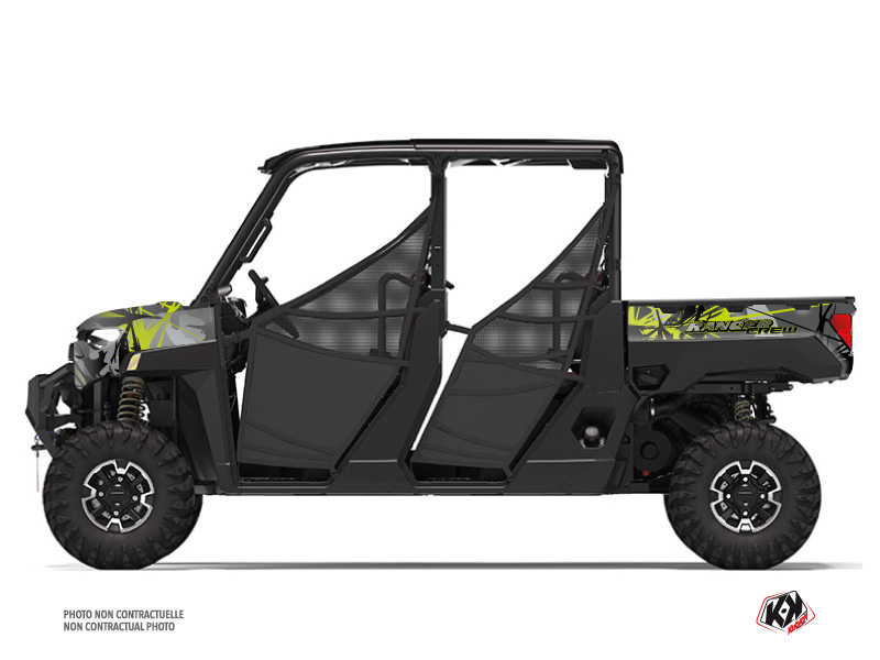 Polaris Ranger Crew UTV Evil Graphic Kit Grey Green