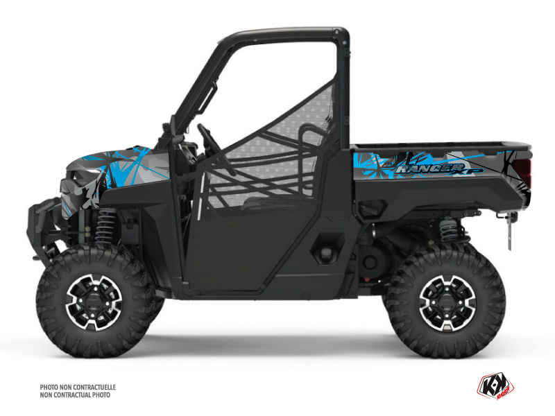 Polaris Ranger 1000 XP UTV Evil Graphic Kit Grey Blue