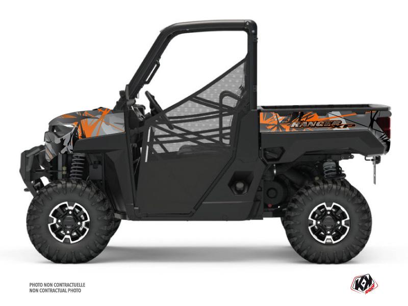 Polaris Ranger 1000 XP UTV Evil Graphic Kit Grey Orange