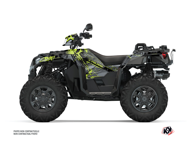 Polaris 1000 Sportsman XP S Forest ATV Evil Graphic Kit Grey Green