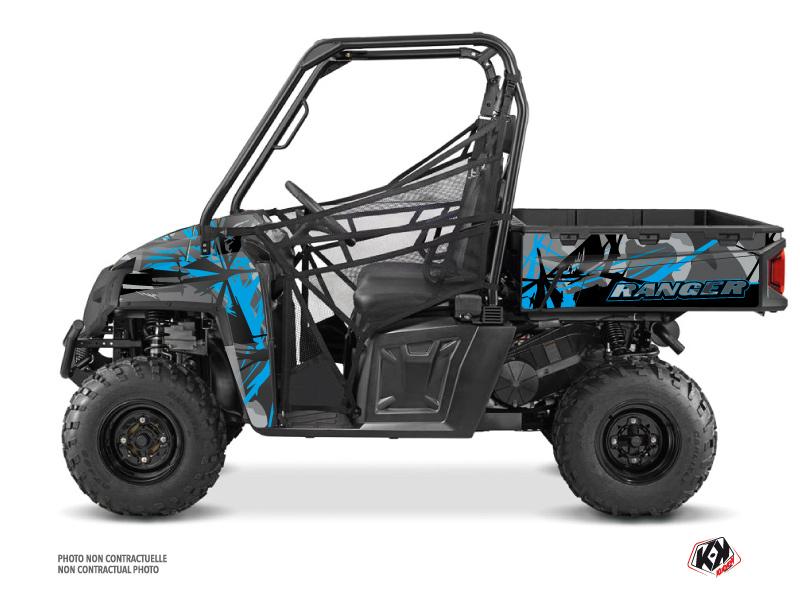 Polaris Ranger 570 FULL UTV Evil Graphic Kit Grey Blue