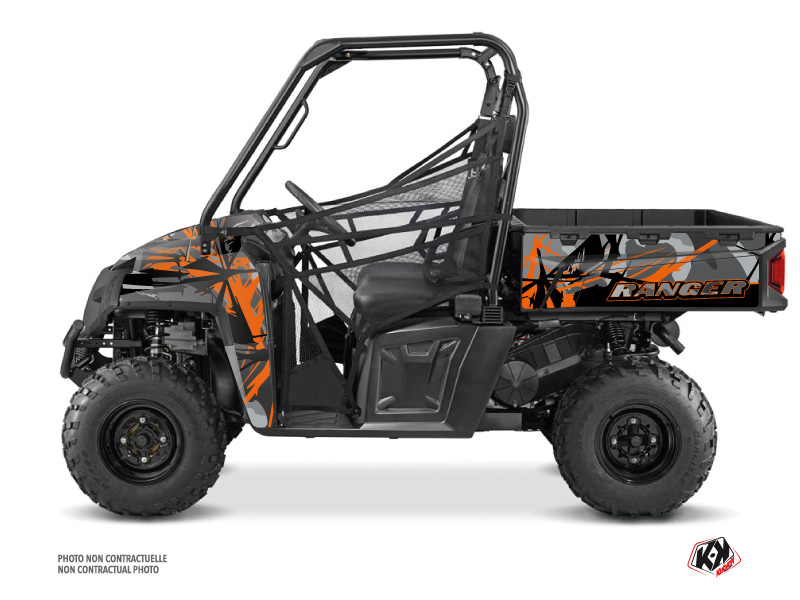 Kit Déco SSV Evil Polaris Ranger 570 FULL Gris Orange