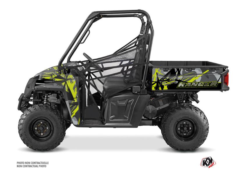Polaris Ranger 570 FULL UTV Evil Graphic Kit Grey Green