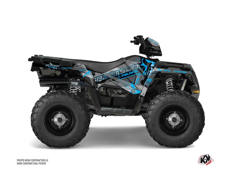 Polaris 570 Sportsman Touring ATV Evil Graphic Kit Grey Blue