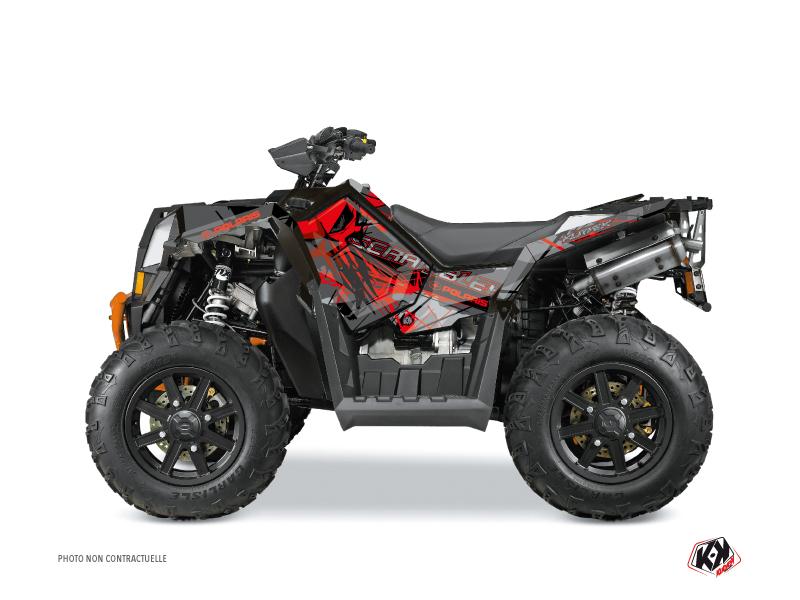 Polaris Scrambler 850-1000 XP ATV Evil Graphic Kit Grey Red FULL
