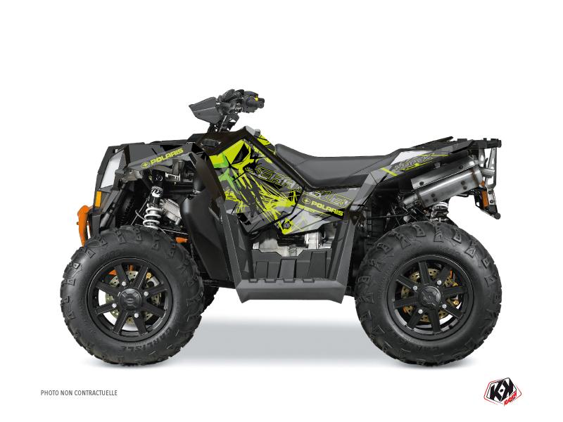 Polaris Scrambler 850-1000 XP ATV Evil Graphic Kit Grey Green FULL