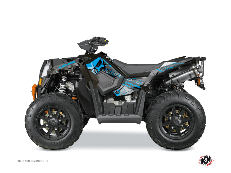 Polaris Scrambler 850-1000 XP ATV Evil Graphic Kit Grey Blue