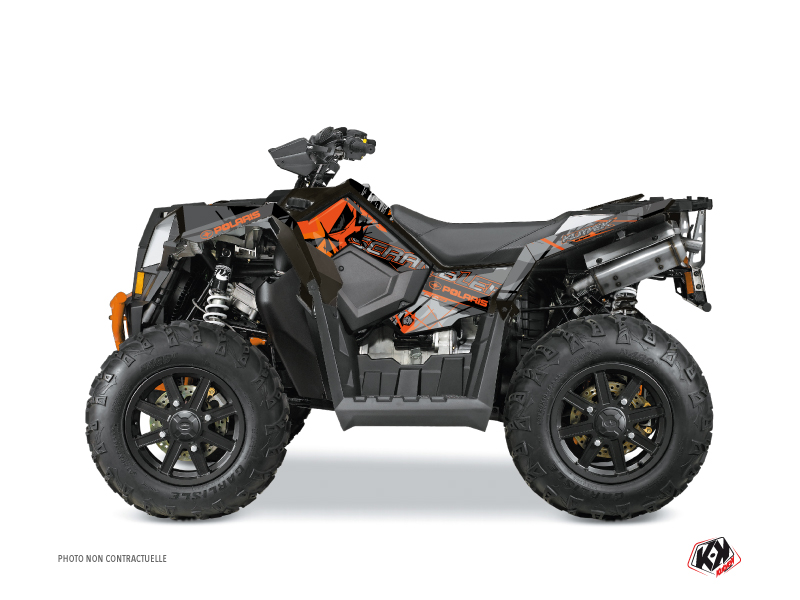 Polaris Scrambler 850-1000 XP ATV Evil Graphic Kit Grey Orange
