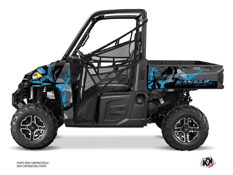 Polaris Ranger 900 XP UTV Evil Graphic Kit Grey Blue
