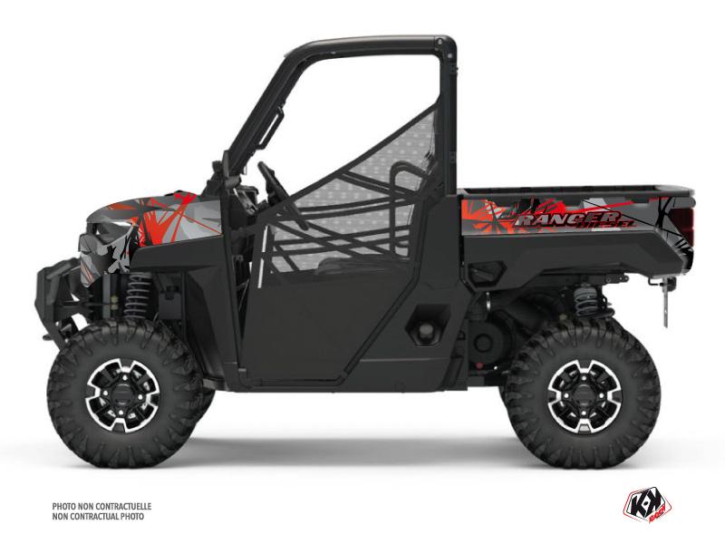 Kit Déco SSV Evil Polaris Ranger Diesel Gris Rouge