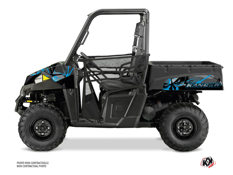 Polaris Ranger EV UTV Evil Graphic Kit Grey Blue