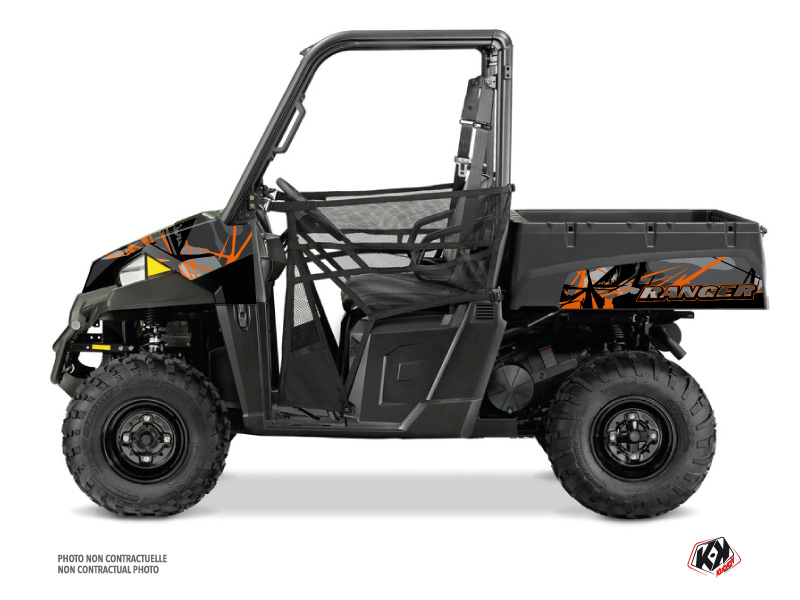 Polaris Ranger EV UTV Evil Graphic Kit Grey Orange